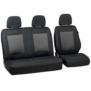Schwarz-graue Dreiecke Sitzbezüge für FORD PUMA Autositzbezug VORNE