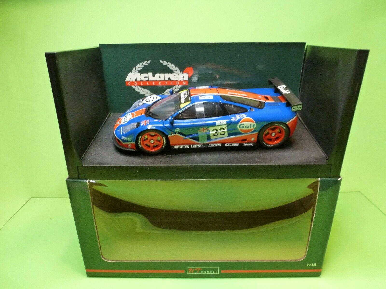 UT MODELS McLAREN F1 GTR BMW - LE MANS 1996 - GULF Blau 1 18 -  EXCELLENT IN BOX