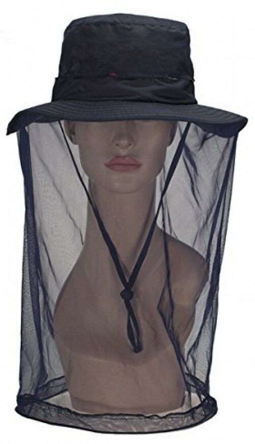 Panegy Outdoor Anti-mosquito Mask Hat With Head Net  Mesh Face Predection, Dark  will make you satisfied