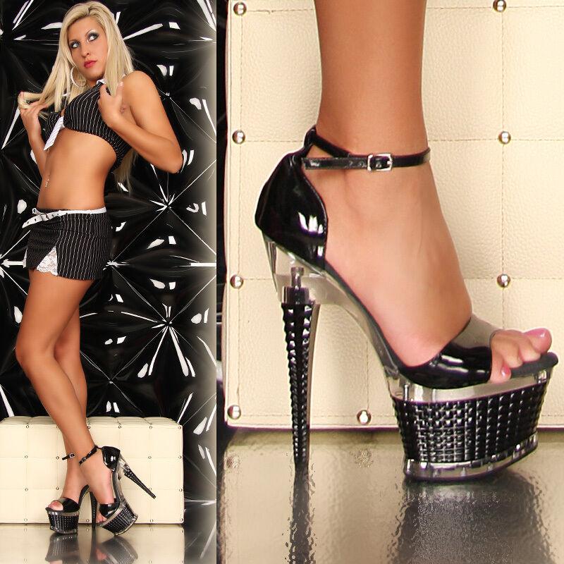 Sexy  High Heels  Plateau Lack Plateau  Schuhe Highheels Gogo Tabledance 3 Farben Insta cc095f