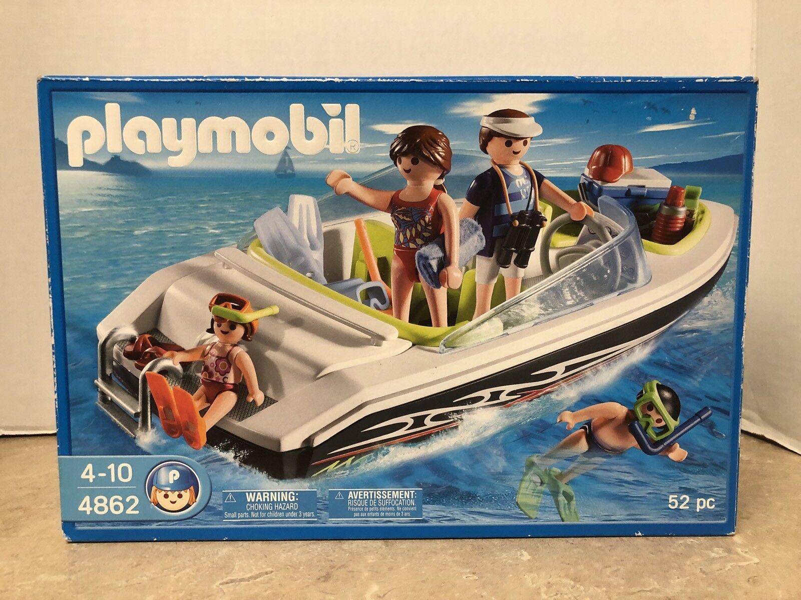Vintage playmobile 4862 Boating famille neuf en boîte scellée