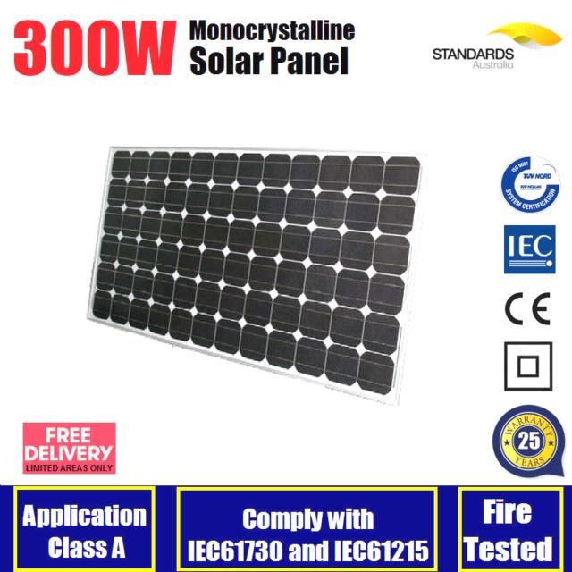 300W 12V Mono Solar Panel Kit Caravan Boat Auto 4WD Battery Charging 300 watt