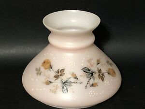 Vintage-GWTW-Pink-Glass-7-Fitter-Slanted-Tam-Hurricane-Oil-Lamp-Shade