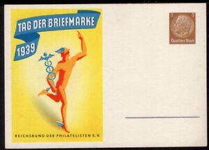 GERMANY PS STATIONERY POSTAL CARD 1939 UNUSED TAG DER BRIEFMARKE #2