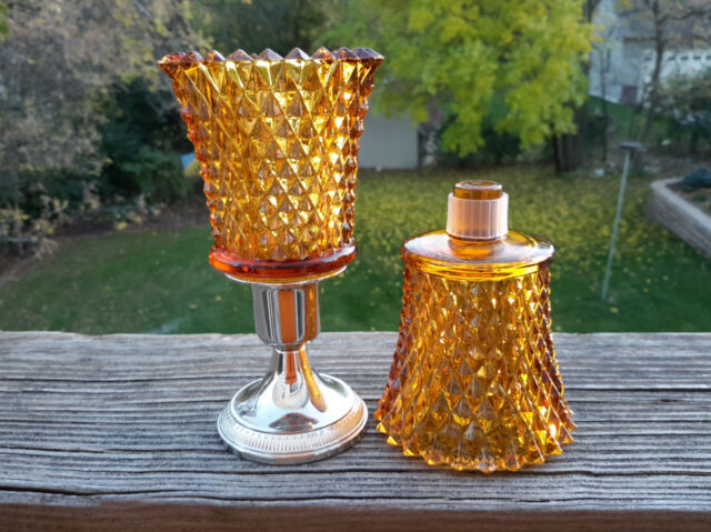 2 homco 1194 bd diamond point clear glass peg votive cup candle