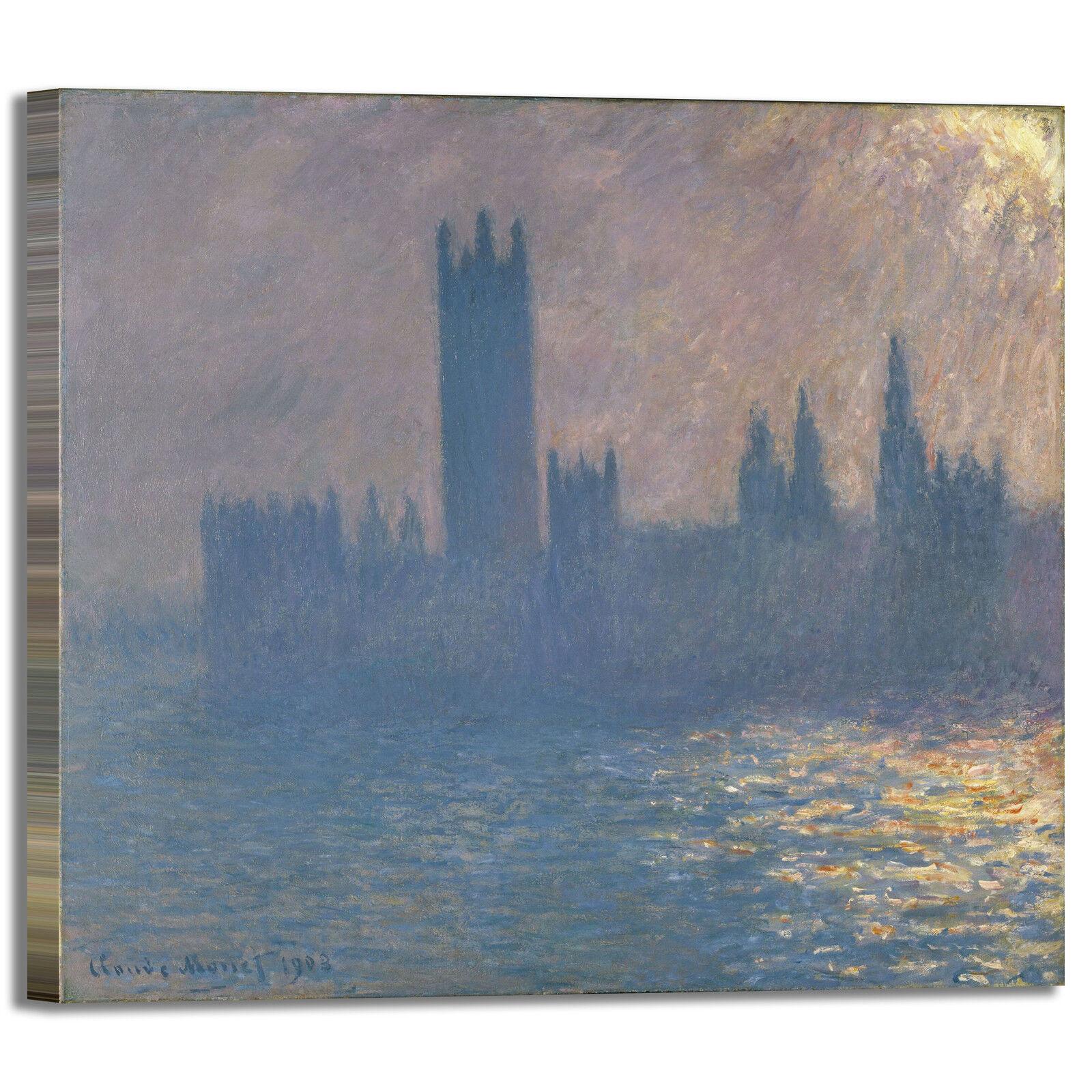 Monet parlamento design quadro stampa tela dipinto telaio arroto casa
