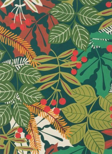 Pine Berry Winter Leaves Alexander Henry Cotton Quilt Fabric 8275 B Hunter Green
