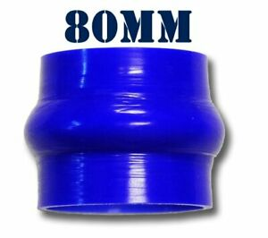 Silicone-Hump-Turbo-Radiator-Hose-Joiner-Pipe-80mm-3-125-034-Coupler-Silicon-Blue