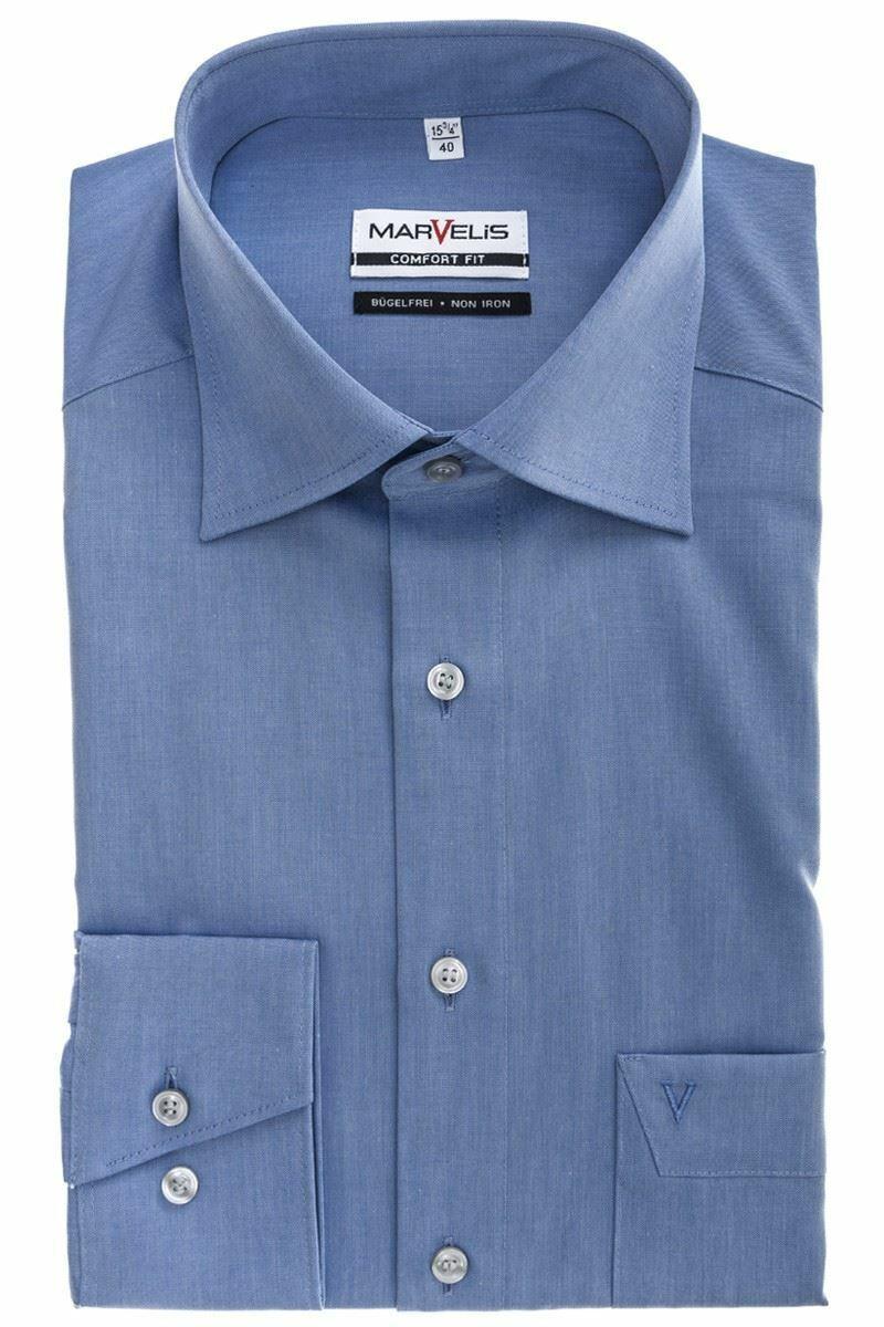 Blue Chambray Spread Collar