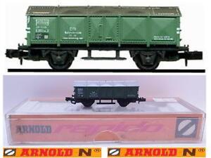 ARNOLD-VINTAGE-4241-CARRO-MERCI-DB-TRASPORTO-SCORIE-METALLICHE-AUTO-BOX-SCALA-N