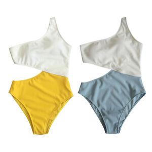 78b0168db7bc Detalles de Mujer Una Pieza Bañador Acolchado Hueco Bikini Traje De Baño  Monokini Push Up