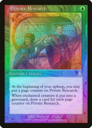 Private Research FOIL Urza/'s Destiny NM Blue Uncommon MAGIC MTG CARD ABUGames