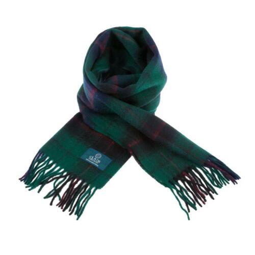 Scottish 100 /% Lambswool Tartan Clan Scarf Davidson Brand New Made In Scotland