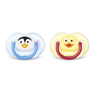 AVENT Baby Boys Girls Orthodontic Soother Dummy Pack of 2 Animals 0-6 Months
