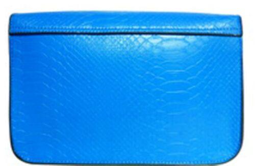Faux Leather Snakeskin Satchel Cross Body Messenger Bag School College Shoulder