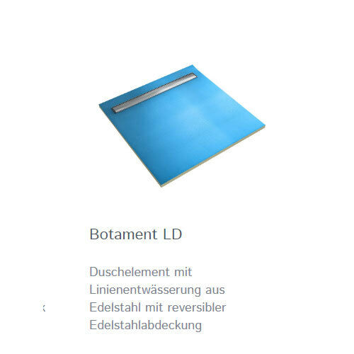 BOTAMENT LD Linienenentwässerung Edelstahlrinne Duschboard fliesbar Duschtasse