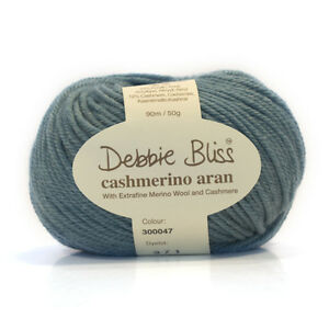 Debbie-Bliss-Cashmerino-Aran-Hand-Knitting-Yarn-50g-Various-Shades