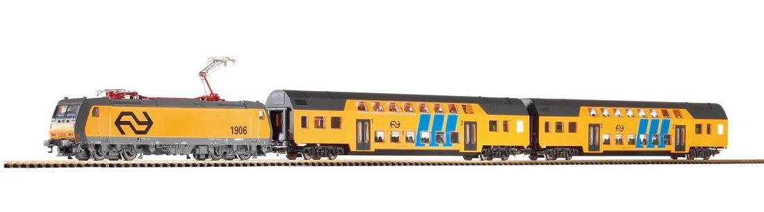 PIKO h0 96975-Start-Set treno NS con doppio bastone carro merce nuova
