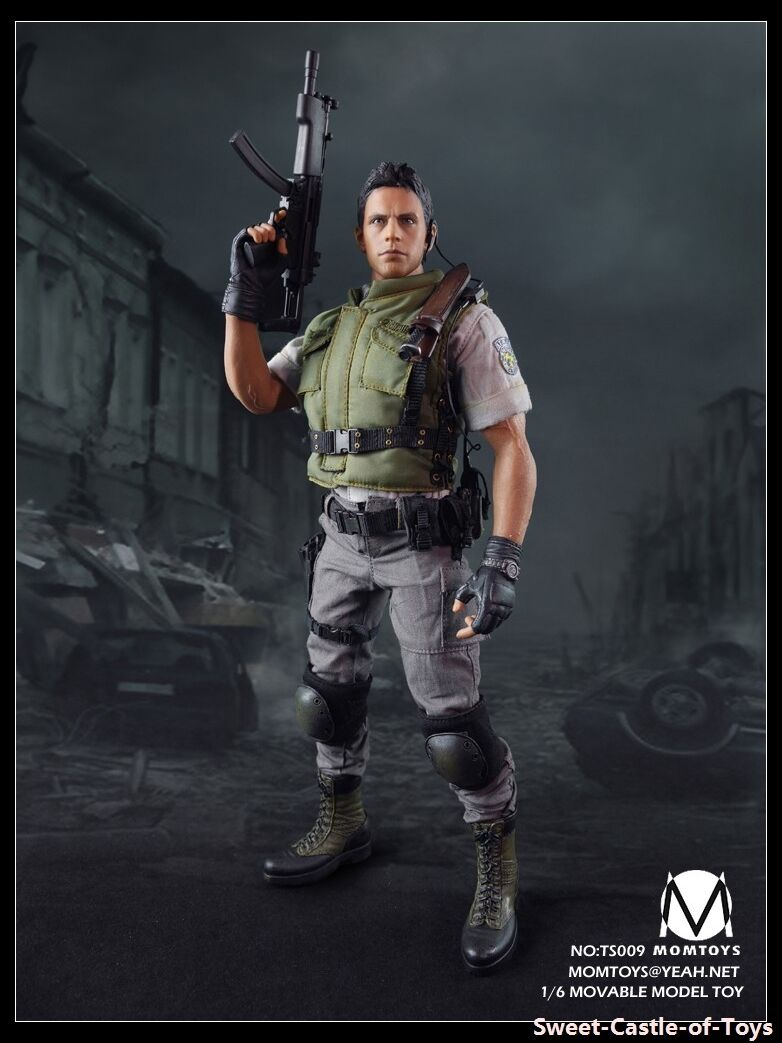 1/6 Momtoy Action Figure Biohazard Resident Evil Chris ROTfield S.T.A.R.S Alpha