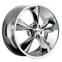 Cpp Foose F105 Legend Wheels Rims, 20x8.5 Front + 20x10 Rear, 5x5, Chrome