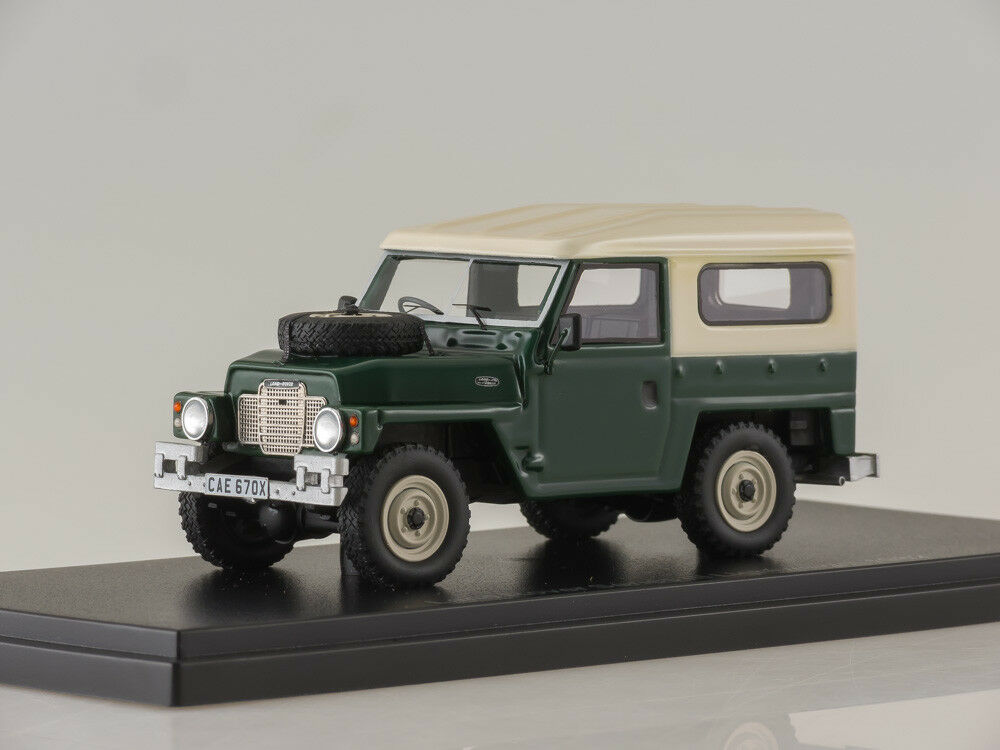 Scale model 1:43 Land Rover Series III, matt-dark verde/bianca, RHD 1982