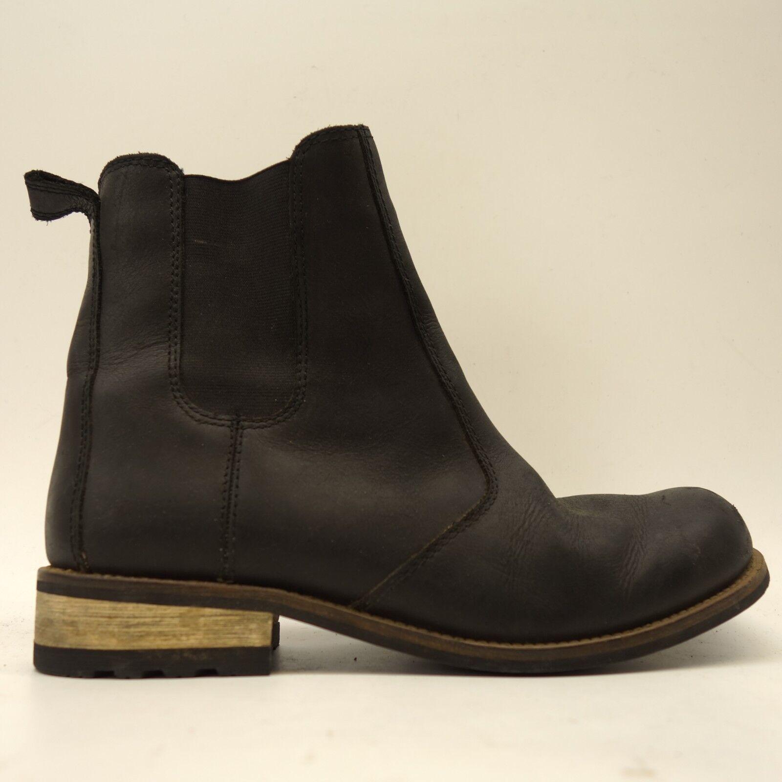 Kodiak Para Para Para Mujer Alma Impermeable Negro Cuero tire de Chelsea botas Talla 10  Mejor precio