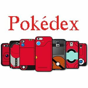 finest selection 610f1 004cd Details about Pokedex Phone Case iPhone 4S 5 5S Galaxy S3 S4 S5 S6 Active  Edge Note 2 3 4 5
