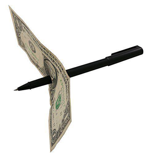 Magnet Trick Magic Pen Penetration Through Paper Money Stage Close Up Kids Adult