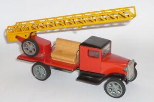Antiquitäten & Kunst Original, Gefertigt 1945-1970 FleißIg Altes Blech Feuerwehr Auto Blechspielzeug Feuerwehrauto Firewall Lkw Modell 21cm In Vielen Stilen