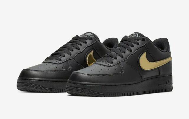 Nike Air Force 1 '07 Lv8 3 Unisex Shoes Size 11 Color Black/gold