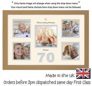 Actif 70th Anniversaire Cadre Photo Platinum Mariage 4x4 X4 Et 5x5 Photos Dans Word 979d-afficher Le Titre D'origine AgréAble à GoûTer