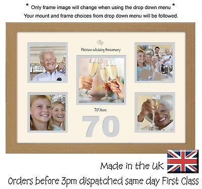 Di Larghe Vedute Cornice Foto 70th Anniversario Matrimonio Platinum 4x4 X4 E 5x5 Foto In Word 979d-
