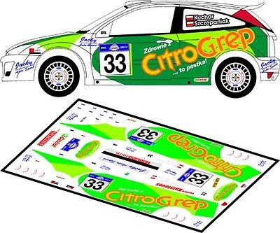 RALLYE KORMORAN 2003 #2 D43131 DECALS 1//43 FORD FOCUS RS WRC KUCHAR