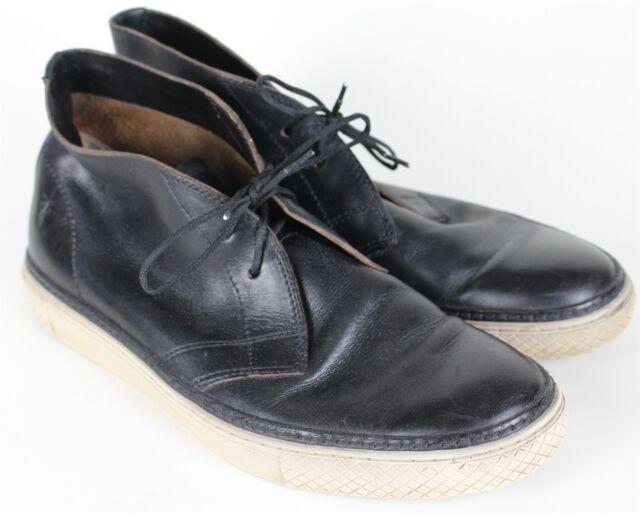 Frye Gates Chukka Black Leather Ankle Boots Mens 10 Ebay