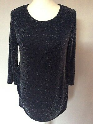 Tops Ladies 14 Maternity Top Blooming Marvellous Navy Blue Sequin Evening Party Smart Clothing, Shoes & Accessories