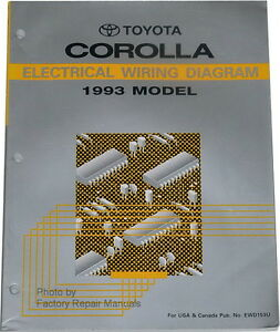 1993 Toyota Corolla Electrical Wiring Diagrams Original Shop Manual Ebay
