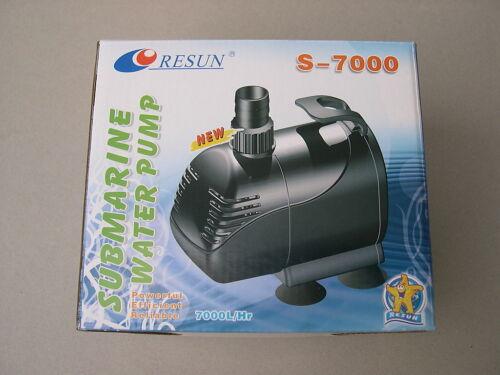 Teichpumpe Bachlaufpumpe 7000 L//H Teich Filter Energiesparer Wasserpumpe