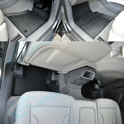 AUDI Q5 Rubber Floor Car Interior Mats BLACK RHD 8R TDI FSI TFSI Quattro STronic