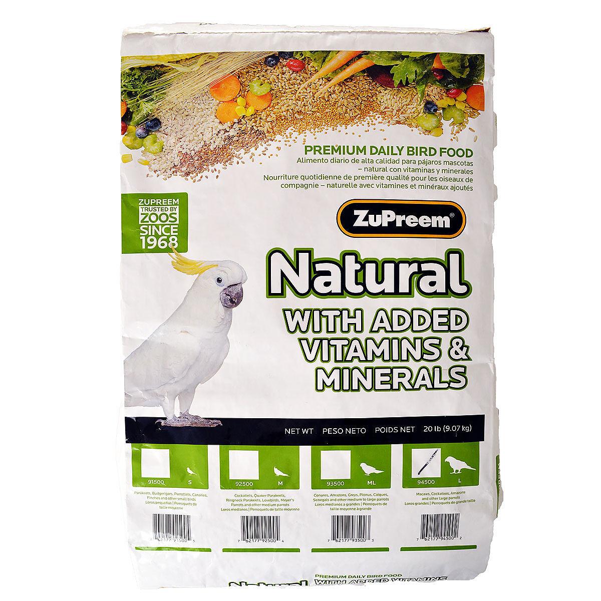 Zupreem Natural Bird Food For Large Birds