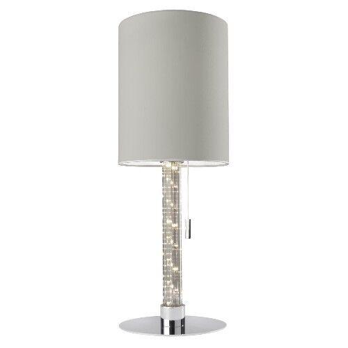 Cycle Lampe de avec table avec de DEL Lumière pilier Single Tissu blanc Lampe de table décoratif 281a1b