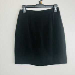 Ann-Taylor-Women-039-s-Black-Wear-to-Work-Career-Straight-Pencil-Skirt-Size-4