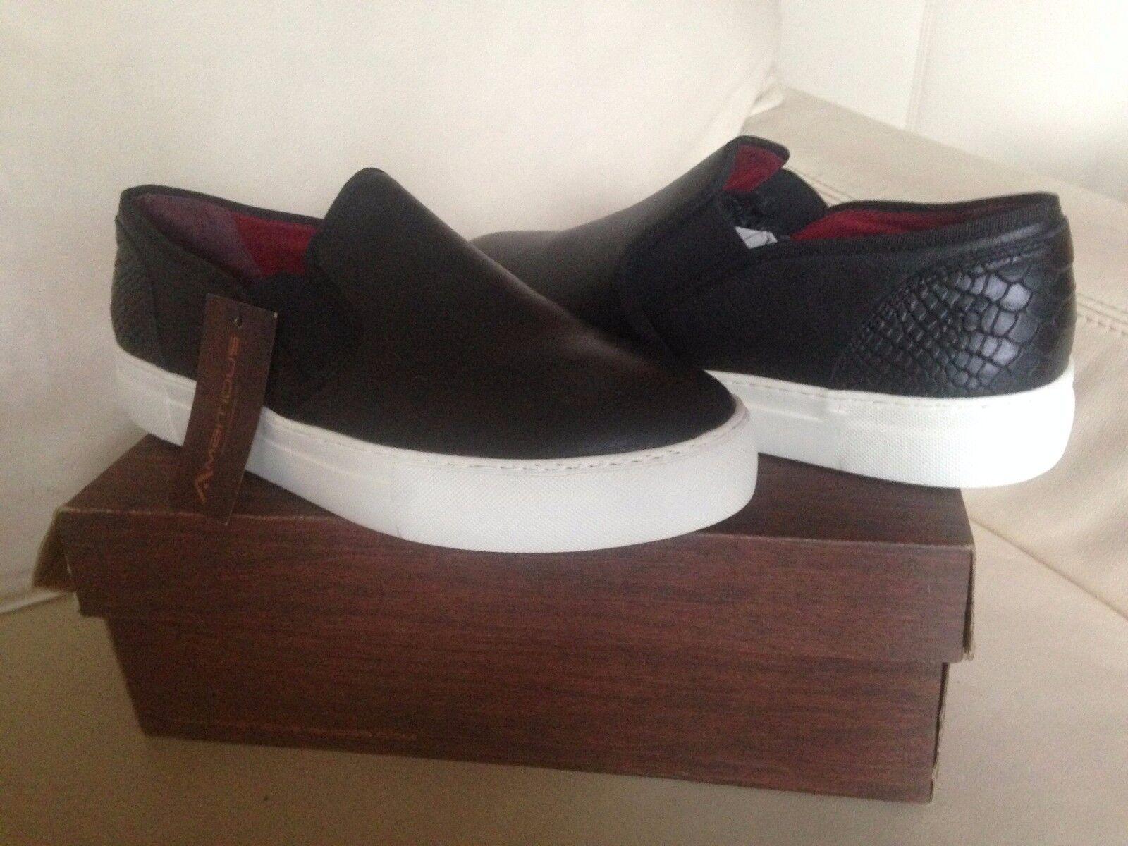 BMBITIOUS Schuhe Sneaker Schlüpfen NEU 45 Herrenschuhe Lederschuhe Black Schous