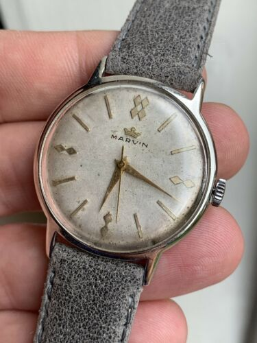 1950 S Vintage MARVIN montre homme cal. 560 33 mm