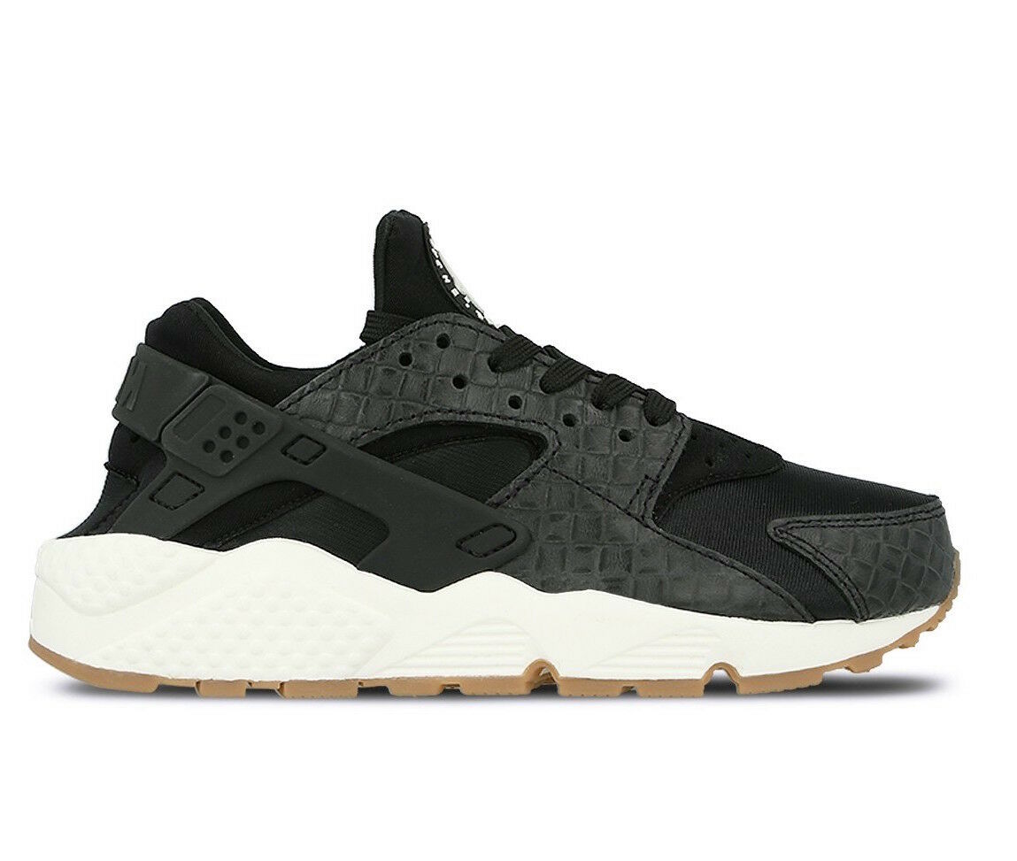 Women's Nike Athletic Air Huarache Run Premium Light Weight Athletic Nike Sneakers 683818 011 e64e11