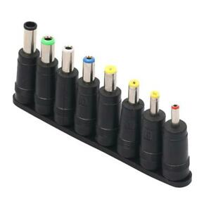 8Pcs Universal for PC Laptop DC Power Charger Supply Adapter Jack Plug Connector
