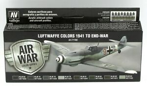 Vallejo-71-166-Luftwaffe-Colors-1941-to-End-War-Air-War-Acrylic-Paint-Set-WWII