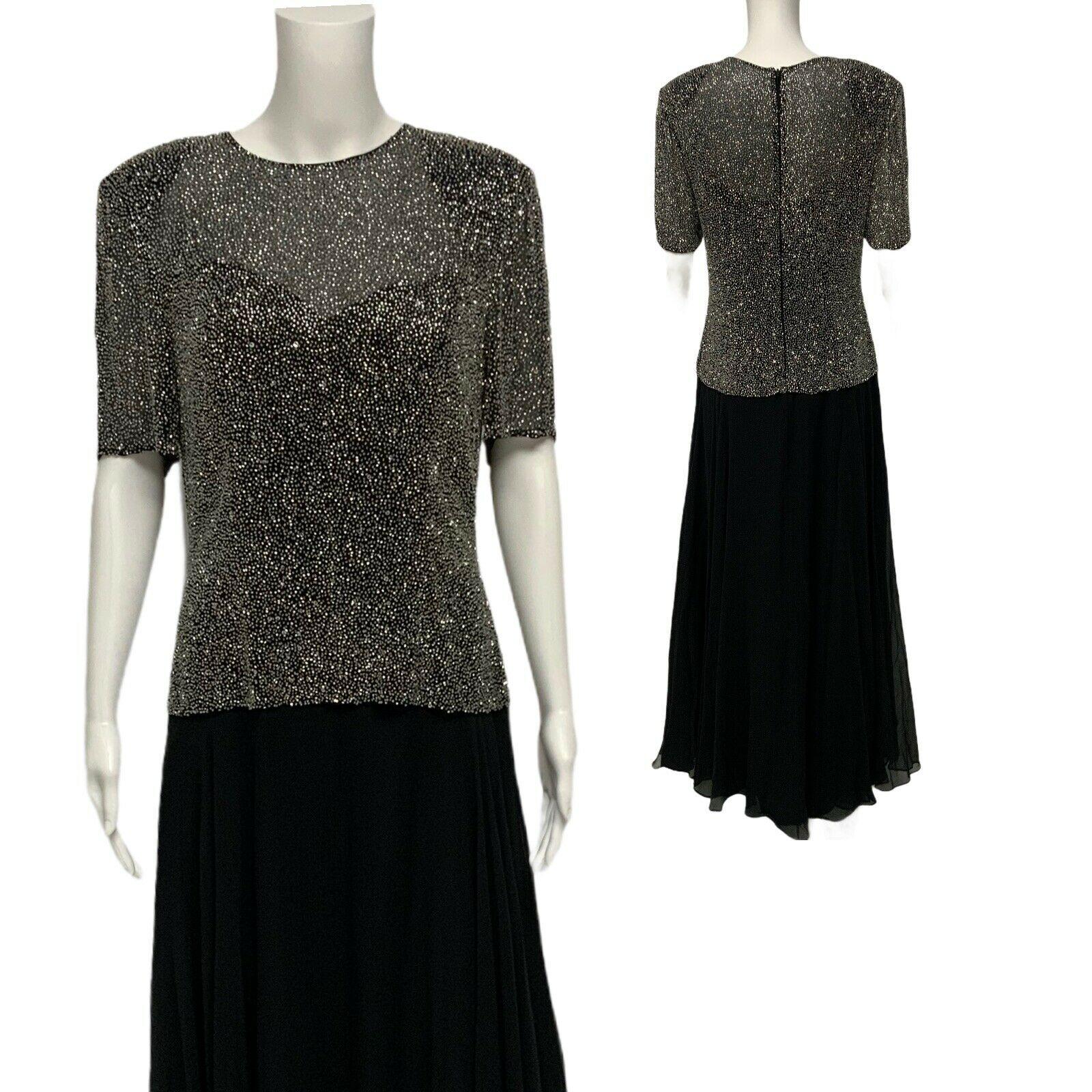 Montage Collection by Mon Cheri women's evening formal dress beaded size 8