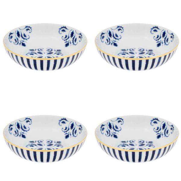 Vista Alegre Porcelain Transatlântica Cereal Bowl - Set Of 4