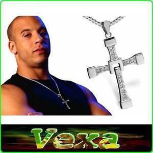 comprando ahora última venta 2019 auténtico Detalles de Collar Dominic Toretto rápido Y Furioso Vin Diesel Cruz  Colgante de Cristal NK02- ver título original