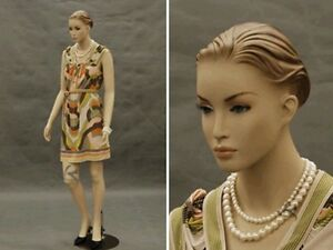 Female Fiberglass African style Mannequin Dress form Display #MD-ALICE